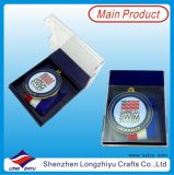 Nueva medalla modificada para requisitos particulares de la medalla de la acabadora de los deportes medalla con el rectángulo de regalo