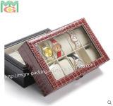 Caixa de relógio de madeira do projeto quente