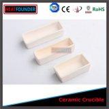 Alto crogiolo dell'allumina del crogiolo di ceramica rettangolare Al2O3
