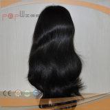Parrucca brasiliana della parte anteriore del merletto del nero dei capelli umani del Virgin