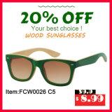 Lunettes de soleil en bambou de Colourfull avec la lentille polarisée de Porized