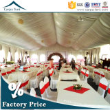 広州のSilk Tent Liningsの20mx30m BeautifulおよびLuxury White Canvas Large Wedding Party Tents