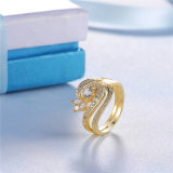 Nuovo anello dell'argento sterlina della scintilla 925 di disegno in azione (R-0452)