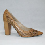 Les chaussures neuves de dames de femmes de talon haut de mode avec du chrome ont terminé (TM-A030)