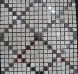 Telha de assoalho bonita para o mosaico misturado da pedra do mármore da natureza do cristal de aço de Strainless (FYSM040)