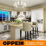 Armadio da cucina bianco tradizionale di legno solido di Oppein con l'isola (OP15-S15)