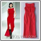 Entwerfer-Frauen-Form-roter langer Abschlussball-Kleid-Großverkauf