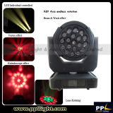 Вращая 19X15W СИД Bee Eyes Moving Head Light Zoom Wash Light