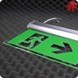 Green Rechargeable Battery Backup Exit Light