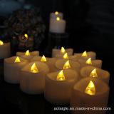 Ámbar parpadeante luz LED Tealight velas para la decoración