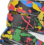 Zapatos plateados de las mujeres del talón de la cuesta de la manera con la cinta mágica (HS8-5)