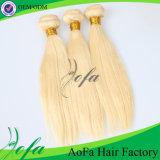 人間ブラジルのバージンは毛のブロンドおよび黒いおよび黒く最もよい毛のアクセサリを釘ひっくり返す