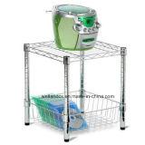 Шкаф корзины хранения дома кухни крома 2 ярусов миниый (BK452545C2)