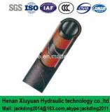 Fil inséré, boyau en caoutchouc hydraulique spiralé de Suction&Delivery de fibre avec l'ajustage de précision de pipe 2+1s