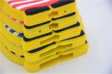 3D格子縞のシャツのSamsungギャラクシーS7 S6edgeノート7 (XSXH-002)のための大きい目の子分のシリコーンの電話箱