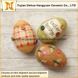 Fondo de los huevos de Pascua de cerámica