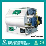 Double Shaft Feed Mixer Machine avec la Trappe-Opening Discharging Mechanism