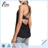Singulets arrières sexy de gymnastique de femmes avec le soutien-gorge intérieur
