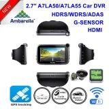 """2.7 de """" carro novo DVR Ambarella A7la50 4.0mega Hdr/WDR 1296p com GPS DVR-2718"""