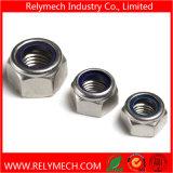 Écrou de blocage en nylon Hex M2-M20 de garniture intérieure d'acier inoxydable