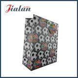 Напечатанная футболом хозяйственная сумка лоснистого слоения изготовленный на заказ бумажная с биркой