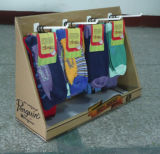 Шипучка Counter Top Display с 4 Plastic Hooks для Socks, Pegboard Counter Display, PDQ, Sock Display