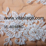 Tela nupcial elegante do laço de China Suppier para o vestido de casamento Vl- 60011bc