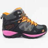 女性は靴をハイキングする屋外の履物のスポーツを防水する