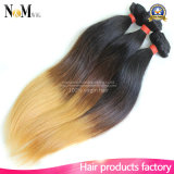 Capelli umani naturali del Virgin di Ombre di colore naturale diritto indiano dei capelli