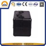 4つの皿(HB-3109)が付いている黒く装飾的な構成の美の箱