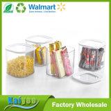 Envases de almacenaje del grano de la conservación de alimentos de la cocina con la tapa