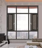 Innenraum-örtlich festgelegtes und Flügelfenster-Aluminiumfenster mit Fliegen-Ineinander greifen
