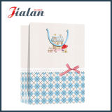 El acabamiento superficial de la tela con el arqueamiento de la cinta modifica el bolso de papel del regalo para requisitos particulares de las compras