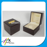 Doos van het Pakket van het Horloge van de Luxe van de douane de Embleem Afgedrukte Houten