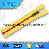#5 abrem Extremidade Zipper Plastic para Sportswear com slider de Customized
