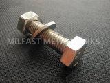 De Bout DIN 933 van de Hexuitdraai van het roestvrij staal met de Wasmachine van de Noot DIN 934 DIN 125 van de Hexuitdraai