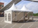 Upal Outdoor 5X5m Aluminum High Peak Pagoda Tent