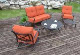 余暇の屋外の雑談のLoveseatのグループの家具