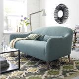 Il sofà sezionale del tessuto delle due sedi ha impostato con i piedini di legno (FS-007)