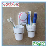 Stand réglé de support de mur de support de brosse à dents avec la cuvette d'aspiration