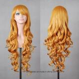최신 판매 다색 본래 색깔 여성 긴 머리 가발