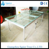 Grade superior Special Cheap Glass Podium Stage para Swimming Pool para Wedding