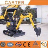 (Tail&1.7t zero) mini máquina escavadora CT16 com dossel