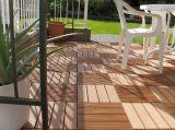instalación fácil y azulejos inferiores del mantenimiento WPC DIY, suelo laminado al aire libre de WPC DIY, Decking compuesto plástico de madera de 600*300*22m m