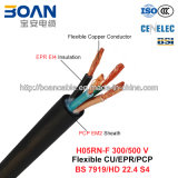 H05rn-F, Rubber Cable, 300/500의 볼트, Flexible Cu/Epr/Pcp (BS 7919/VDE 0282-4)