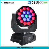 Indoor 19X15W RGBW LED Zoom Moving Head Bee Eye Lumière