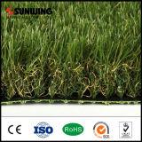 Gramado artificial verde profissional do relvado da decoração do jardim
