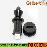 Movimentação de madeira do flash do USB da peça do jogo de xadrez (gc-679)