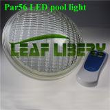 A piscina morna do diodo emissor de luz do branco PAR56 ilumina luzes claras subaquáticas impermeáveis do político da natação IP68