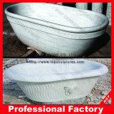 Bañera libre de piedra de mármol artificial al por mayor